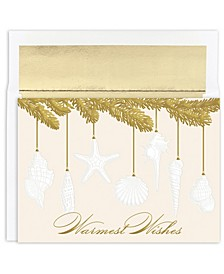 Shell Ornament Holiday Boxed Cards