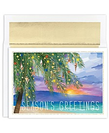 Tropical Sunset Holiday Boxed Cards