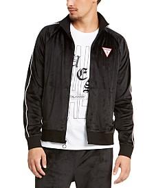 GUESS Men's Alameda Velour Track Jacket