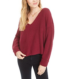 Millie Mozart Cotton V-Neck Sweater