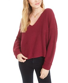 French Connection Millie Mozart Cotton V-Neck Sweater