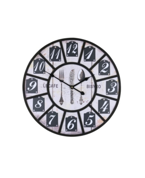 Three Star Le Cafe Bistro Wall Clock
