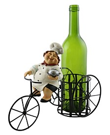 Old Lady Chef Wine Bottle Holder
