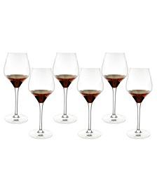 6 Piece Set of Wine Glasses