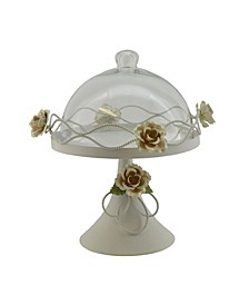 Cake Platter with Cover and Roses