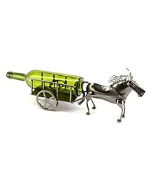 Donkey and Cart Wine Bottle Holder