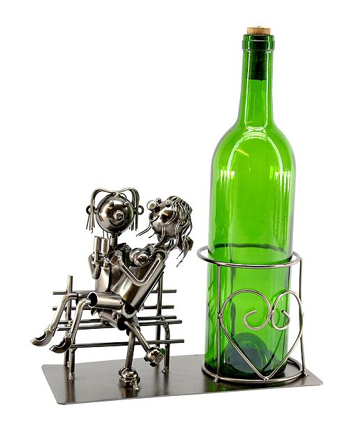 Wine Bodies Lovers on The Bench Bottle Holder