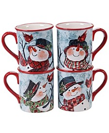Watercolor Snowman 4-Pc. Mug