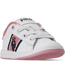 Polo Ralph Lauren Toddler Girls Quilton Bear Casual Sneakers from Finish Line