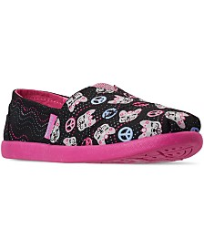Skechers Toddler Girls Lil BOBS Solstice 2.0 Peaceful Pups Slip-On Casual Sneakers from Finish Line