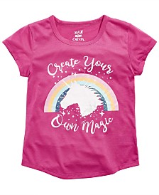 Max & Olivia Little & Big Girls Magic-Print Pajama Top, Created For Macy's