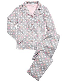 Little & Big Girls  2-Pc. Heart-Print Pajamas Set