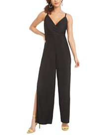 Material Girl Juniors' Metallic-Striped Jumpsuit, Created for Macy's