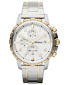 Men's Chronograph Dean Two-Tone Stainless Steel Bracelet Watch 45mm FS4795