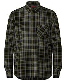 HUGO Men's Ermann Relaxed-Fit Plaid Shirt