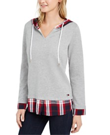 Tommy Hilfiger Layered-Look Hooded Sweatshirt