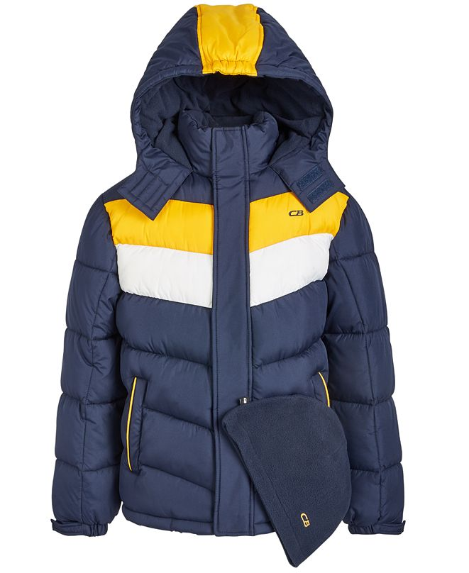CB Sports Toddler Boys 2-Pc. Colorblocked Puffer Jacket & Hat Set