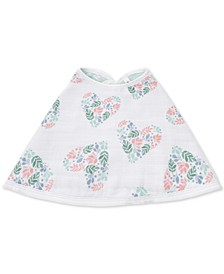 Baby Girls Briar Rose Cotton Burpy Bib