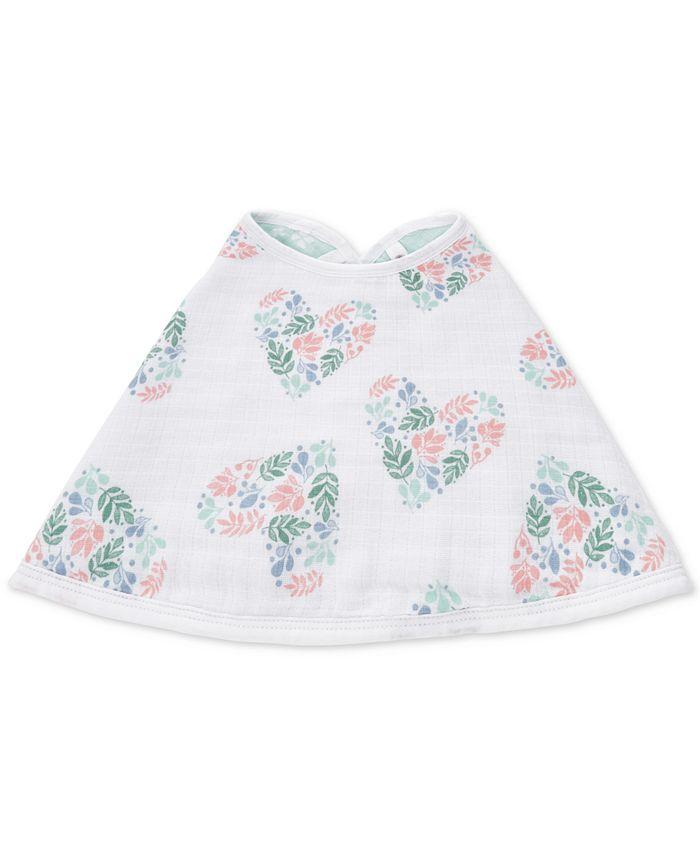 aden by aden + anais - Baby Girls Briar Rose Cotton Burpy Bib
