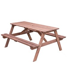 Gardenised A-Frame Outdoor Wooden Patio Deck Garden Picnic Table
