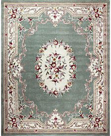 CLOSEOUT! KM Home Palace Garden Aubusson Sage 5' x 8' Area Rug