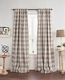 "Grainger Buffalo Check 52"" x 84"" Blackout Curtain Panel"