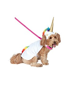 BuySeasons Light Up Unicorn Cape with Hood Pet Costume