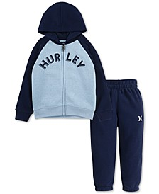 Baby Boys 2-Pc. Sueded Fleece Hoodie & Jogger Pants Set