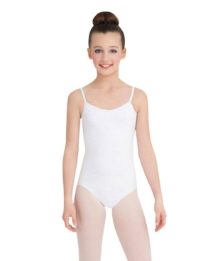 Capezio Kids' Little And Big Girls Princess Camisole Leotard In White