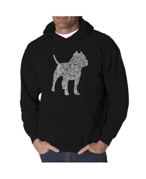 La Pop Art Men's Word Art Hooded Sweatshirt - Pit bull