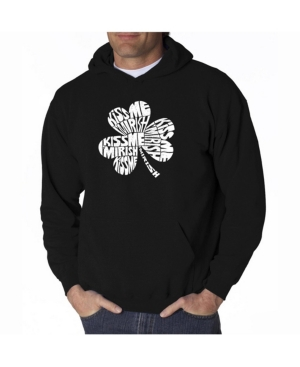 La Pop Art Men's Word Art Hooded Sweatshirt - Kiss Me I'M Irish
