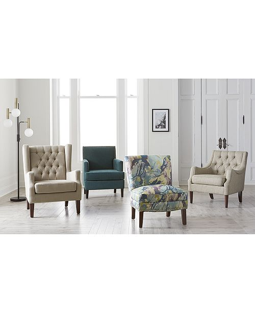 Madison Park Coryn Fabric Accent Chair Quick Ship