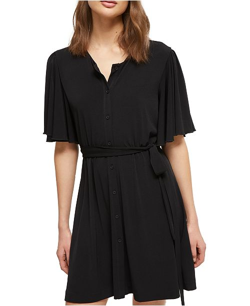 French Connection Tie-Waist Shift Dress