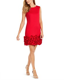 Ruffled-Hem Sheath Dress