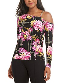 Printed Asymmetric Chain-Link Top, Created for Macy's