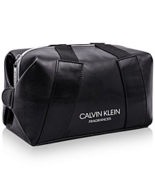 Receive a Complimentary Toiletry Bag with any large spray purchase from the Calvin Klein Men's fragrance collection