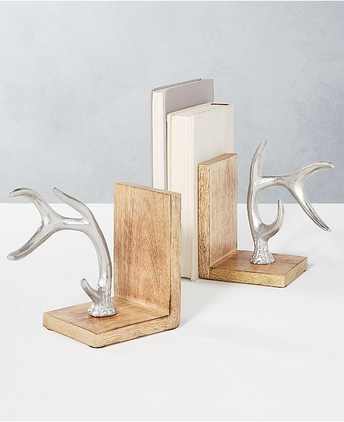 Home Essentials CLOSEOUT! Holiday Antler Bookends, Set of 2