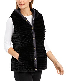 Faux-Fur Hooded Vest, Created for Macy's