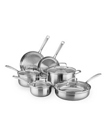 KitchenAid® Architect® Stainless Steel 10-Pc. Cookware Set, Created for Macy's