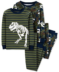 Carter's Little & Big Boys 4-Pc. Cotton Dinosaurs Pajamas Set