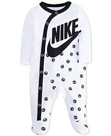 Nike Baby Girls Smiley-Dot Cotton Footed Coverall