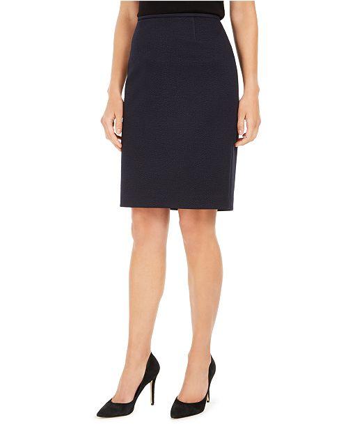 Calvin Klein Textured Pencil Skirt