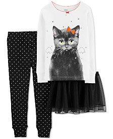 Carter's Baby Girls 3-Pc. Cat Tutu Pajama Set