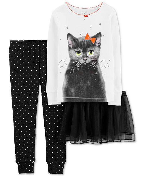 Carter's Baby Girls 3-Pc. Cat Tutu Pajama Set
