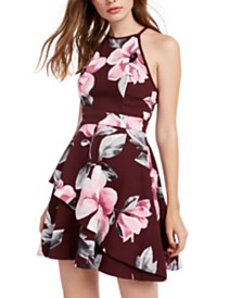 Speechless Juniors' Floral A-Line Dress