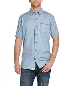 Men's Slub Woven Short Sleeve Shirt