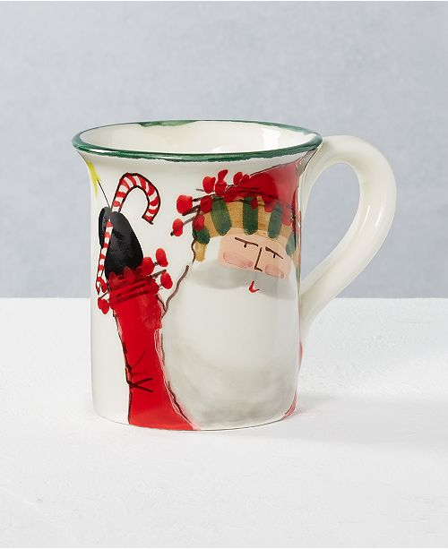 VIETRI Old St. Nick Mug, Created for Macy's