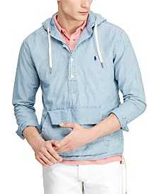 Polo Ralph Lauren Men's Chambray Hooded Popover