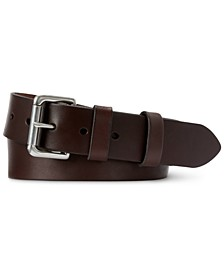 Men's Leather Roller-Buckle Belt