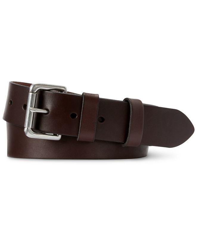 Polo Ralph Lauren Men's Leather Roller-Buckle Belt